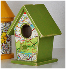 Map birdhouse