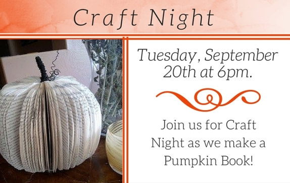 Craft Night- Pumpkin Book