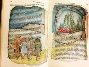 wiz of oz altered book